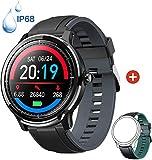 Smartwatch Reloj Inteligente con un Correa Verde Oscuro Reemplazable Impermeable IP68 Pulsera...