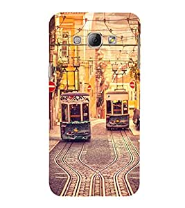 Trams 3D Hard Polycarbonate Designer Back Case Cover for Samsung Galaxy A8 (2015 Old Model) :: Samsung Galaxy A8 Duos :: Samsung Galaxy A8 A800F A800Y