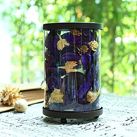 Upper-The dried flower Candle Candlestick ornaments romantic candlelight dinner gift candle,Violet