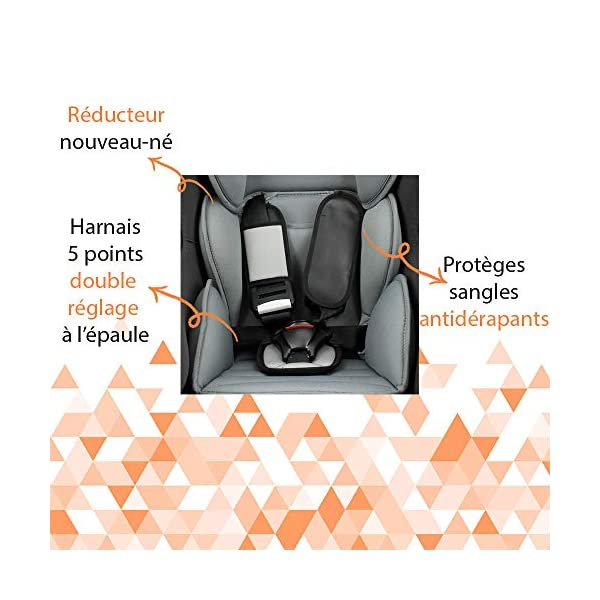 Nania Driver Group 0+/1 Infant High Booster Car Seat, Disney Spiderman nania 5-point harness with double shoulder adjustment Installing the car seat with the 3-point seat belt Harness sleeves and quick release buckle 5