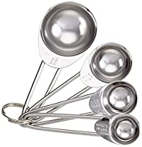 KitchenCraft Kitchen Craft Stainless Steel Four Piece Measuring Spoon Set