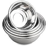 Set di Ciotole, Acciaio Inossidabile, 18/10, 5 pezzi, tecnologia molto lucida, set di ciotole in acciaio inox, utensili da cucina essenziali
