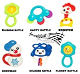 #8: Baybee Plastic Mini Bell Rattles Baby Fish, Crab and Happy Rattle (Medium) - Pack of 6