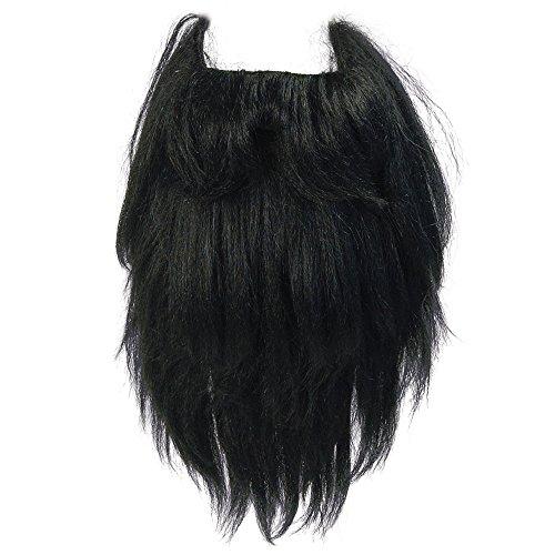 4GIANT Bart, schwarz, one size (Biker Halloween Kostüme Für Kinder)