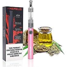 Vaporizzatore CBD - Vaporizzatore olio Nereus Canapa - Vapor CBD, Vape per Cbd, Succo E, e Liquido, Cartuccia (1,5 ml) Funzionamento semplice con indicatore LED USB, cavo di ricarica, senza nicotina (rosa)