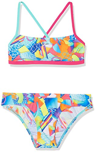 Speedo Damen Spectrum Splash Crossback Badeanzug ,  rosa (Electric Pink/Spearmint/Fluo Orange), 40 (Speedo-performance)