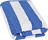 Utopia Towels - Large Beach-Towel Pool-Towel in Cabana Stripe, 100% Cotton, Easy Care, Maximum Softness and Absorbency - Blue (89 x 178cm)