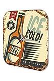 LEotiE SINCE 2004 Wanduhr Nostalgie Bier Deko Seit 1950 Bier Acryl Uhr Bedruckt