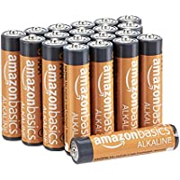 AmazonBasics AAA 1.5 Volt Performance Alkaline Batteries - Pack of 20 (Appearance may vary)