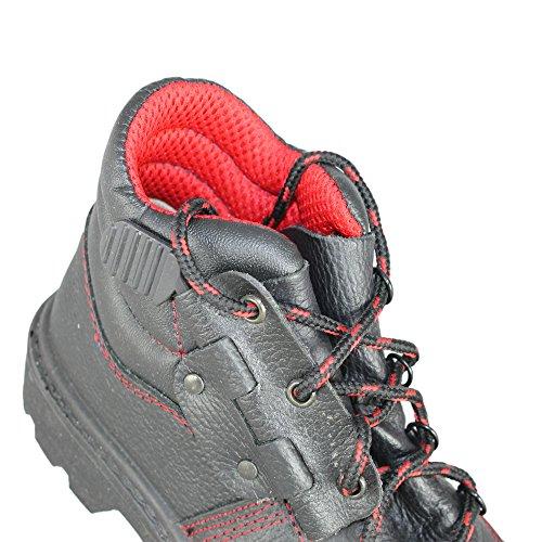 Almar Chaussures de travail S3HRO HI Chaussures de sécurité multi-usages Chaussures Haut Noir Schwarz