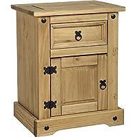 Corona - Comodino in legno, 1 cassetto