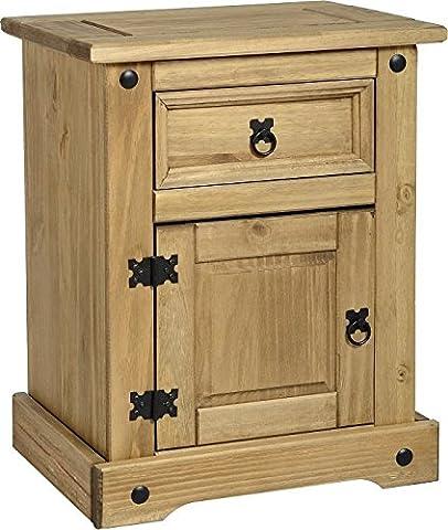 Mercer's Furniture Corona Commode de chevet 1 tiroir et1 porte
