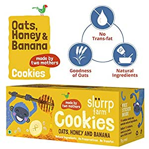 Slurrp Farm Cookies, Oats, Honey, Banana and Raisins, 75g