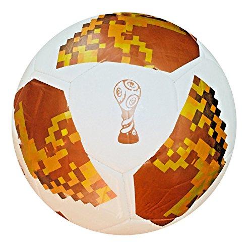 Spedster 2018 WM-Fußball Russland, hochwertig, Größe 5/4/3, verpackt in einem attraktiven Geschenkbeutel aus Netzmaterial, weißgold, 4 (World Cup Soccer Replica)