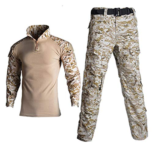 JUNSHIFU Man Tactical Camouflage Uniform Kleidung Anzug Kleidung Sets Desert M -
