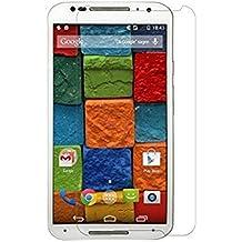Protector de pantalla Cristal templado para Motorola Moto X 2nd Generación (version 2014 / Segunda Generación) Calidad HD, Grosor 0,3mm, Bordes redondeados 2,5D, alta resistencia a golpes 9H. No deja burbujas en la colocación (Incluye instrucciones y soporte en Español)