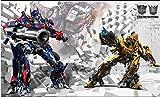 NXMRN Bande dessinée 3d enfants chambre Transformers 5 garçon chambre papier peint murale murale personnalisée Internet Cafe fond mur papier,350X250CM