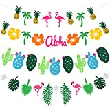 Party Banner - Rymall Addobbi Feste Compleanno Striscione, partito di famiglia, Decorazioni Feste Hawaii Striscioni, Festival Luau Spiaggia Party Decorazione Forniture