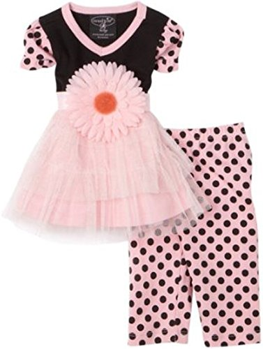 Mud Pie 167021-18 Perfectly Princess Tunic with Leggins Kleid rosa - Kleider Mud Pie