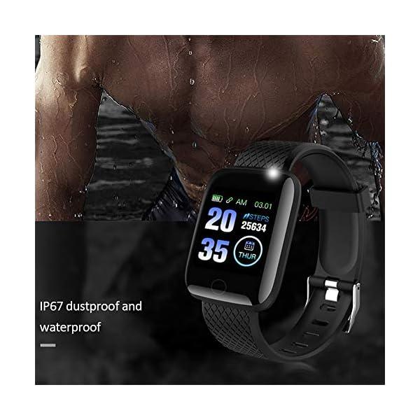 Smart Fitness Tracker Watch, IP67 Impermeable Reloj Inteligente con Contador de Pasos Monitor de sueño, podómetro Reloj para Hombres Mujeres niños 8