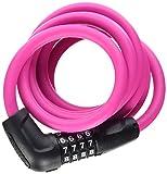 Abus Fahrradschloss 5510C/180/10 PK SCMU, Pink, One Size, 16560-3