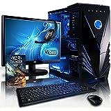 VIBOX Extreme Paquet 4 Gaming PC - 4,3GHz CPU 4 CoreAMDFX, GPUGTX1050 Ti, Avanzado, Ordenador de sobremesa para oficina Gaming vale de juego, con monitor, Iluminaciàninterna azul (4,2GHz (4,3GHz Turbo) SuperrápidoprocesadorQuad4-CoreCPU de AMDFX4350, Nvidia GeforceGTX1050 Ti 4 GB TarjetagráficaGPU, 16 GB Memoria RAM de DDR3, velocidad de RAM: 1600MHz, 2TB(2000GB)SataIII7200 rpmdiscoduroHDD, Fuente de alimentaciàn de 85+, Cajaazul de Vibox, Ningún sistema operativo)