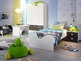 lifestyle4living Jugendzimmer, komplett, Set, Jungen, Mächen, Jugendzimmermöbel, Kinderzimmer, Kinderzimmermöbel, Jugendmöbel, Kindermöbel, Kleiderschrank, Bett