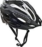 Trespass Crankster, Black, S/M, Adjustable Cycle Safety Helmet with Ventilation, Small / Medium