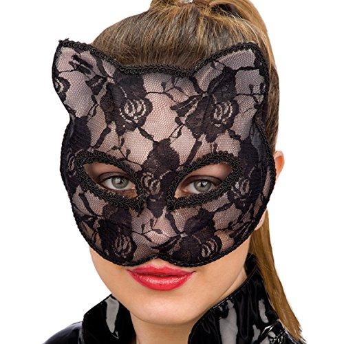 Carnival Toys 00816 - Maske für Erwachsene - schwarze Katze, PVC (Erwachsene Katze Für Maske)