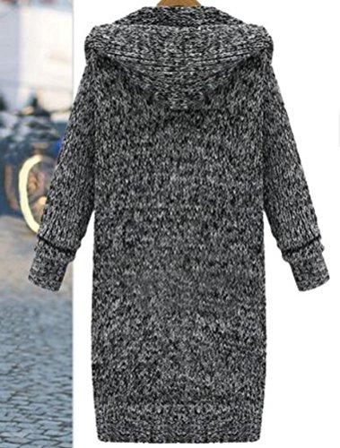 MatchLife Nuove Donna Autunno Cardigan Eleganti Capispalla Nero
