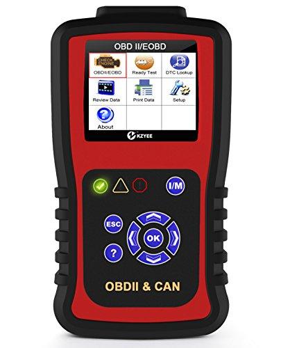 Kzyee KC301 OBDII OBD2 Vehículo Diagnóstico Lector de Código Check Diesel o Luz de Motor de Gasolina en El Tablero Herramienta de Exploración de Vehículos Automotores OBD II Con Todos Los Modos