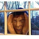Decoraciones de Halloween Scarry Peeper Tom el Mirón | Tom el Mirón Realista para la ventana