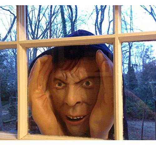 en Scary Peeper Spanner  wahrlich lebender angsteinflößender Fenster Peeper Stütze (Scary Halloween Clown)