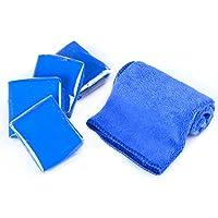 Magiin 4 Pcs Clay Bar Limpiador en Arcilla Coche Barra de Arcilla Mágica 100g Limpieza Suave para Coche Carrocería con 1 Pc Paño 30 * 30cm