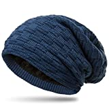 CASPAR MU133 warme Feinstrick Beanie mit weichem Fleece Gefüttert, Farbe:jeans blau;Größe:One Size