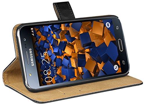 mumbi Ledertasche im Bookstyle für Samsung Galaxy J5 (2015)