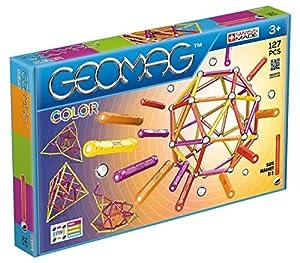 Geomag- Classic Color Construcciones magnéticas y Juegos educativos, Multicolor, 127 Piezas (264)