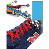 OULII Cordones elásticos sin cordones Cordones elásticos sin cordones para zapatillas atléticas para correr ocasionales (negro)