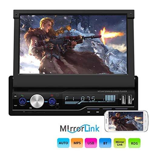 Huashao 7-Zoll-MP5-Videoplayer mit großem Bildschirm, Klapp-Player, Bluetooth-Freisprecheinrichtung für Zwei USB-Autos (Rca Dvd Player 7 Portable)