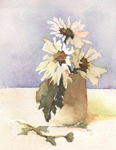Arthouse Daisies, archivalisch Print of Flower Bouquet, 17,8x 22,9cm - Daisy Bouquet Wand