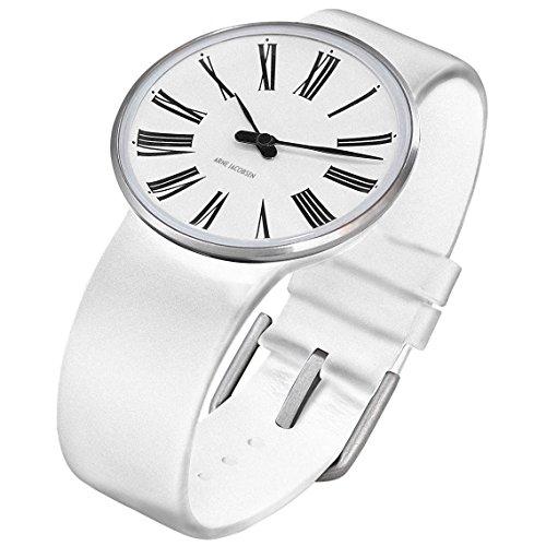 Rosendahl 43461 - Reloj analógico unisex de cuarzo con correa de piel blanca