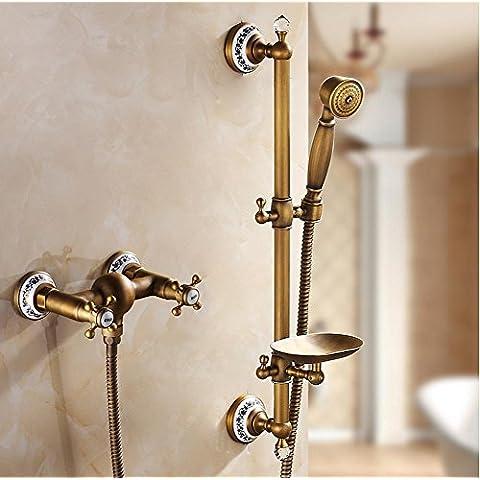 Soffione doccia rame antico bagno box doccia