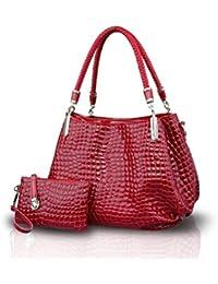 Honeymall borse a mano donna lucida Moda coccodrillo Set di 2 borse Borsa  messenger + Portafoglio b24564587816