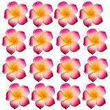 100pcs Frangipanier Hawaïen Tête de Fleur en Mousse Décor pour Mariage Artisanat - Rose Rouge