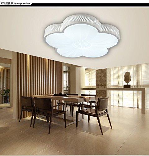 GQLB Lampe de plafond lumières chambre salon fer lumière lumière Plafond LED 430 * 430 * 130MM, noir lumière blanche