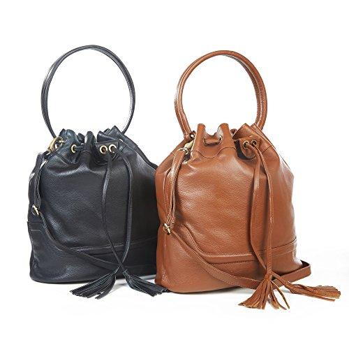 The Leather Store , Cabas pour femme Marron Brun noir