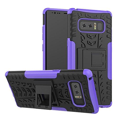 Samsung Galaxy Note 8Case, Daker Schutz Hybrid Zwei Schicht Heavy Duty Armor Schutzhülle für Galaxy Note 8, Schwarz/Lila