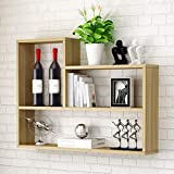 L-Shaped Wandregale Wohnzimmer Schlafzimmer Küche Hänge Theke Tisch Einfache TV Hintergrund Partition Regale Multifunktionale Home Storage Schließfächer Einheit Display Stand Farbe Optional, 80 * 15 *