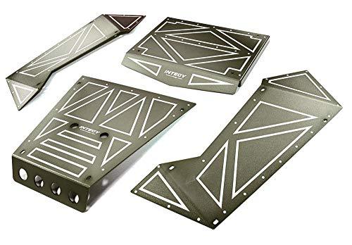 Integy RC Model Hop-ups C27006GUN Aluminum Alloy Panel Kit for Axial 1/8 Yeti XL Rock Racer Buggy - Yeti Rc-kit