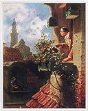 Carl Spitzweg Poster Kunstdruck und Kunststoff-Rahmen - Die Dachstube, 1849 (50 x 40cm)